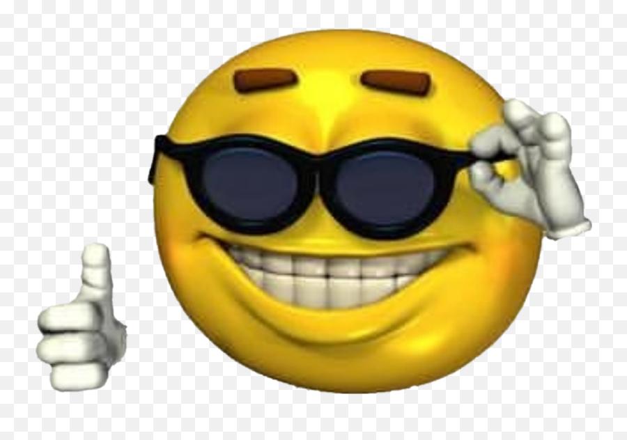 Ironicmeme Ironic Png Sunglasses Emoji Smileyface - Smiley Face Sunglasses Png