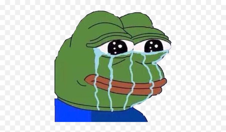 Reaction Frog Meme Cry Tears Freetoedit - Feelsstrongman Emote Emoji,Crocodile Tears Emoji