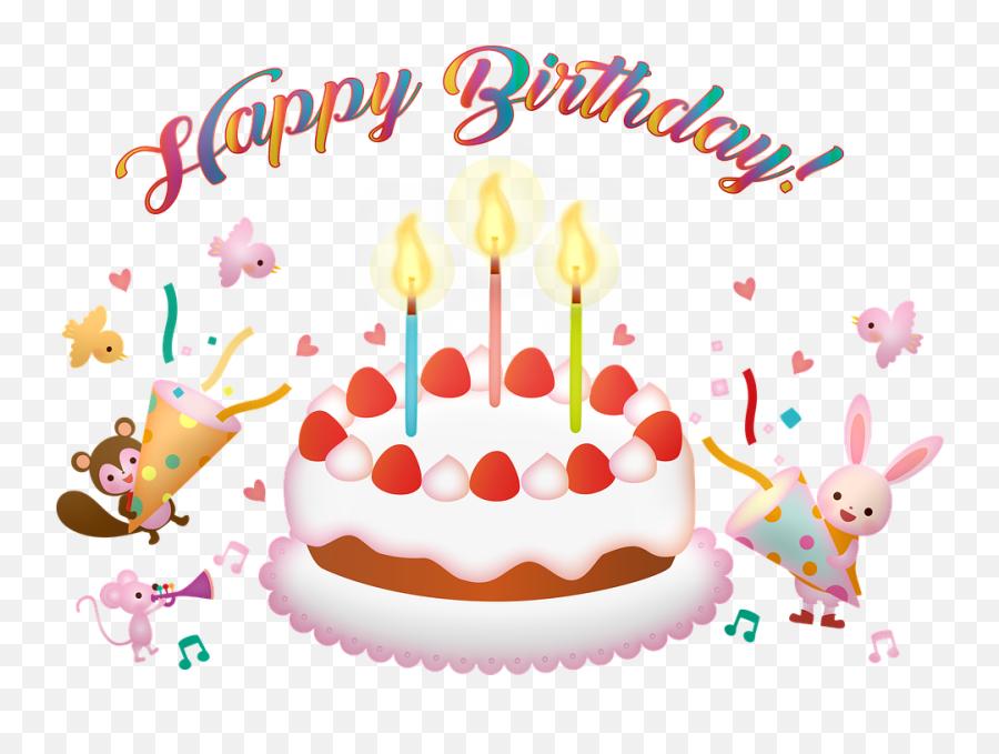 Birthday Cake Happy - Happy Birthday Emoji