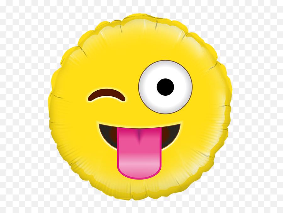 Balão Foil Redondo 18u0027u0027 Crazy Emoji - Balloon,Emoji For Crazy