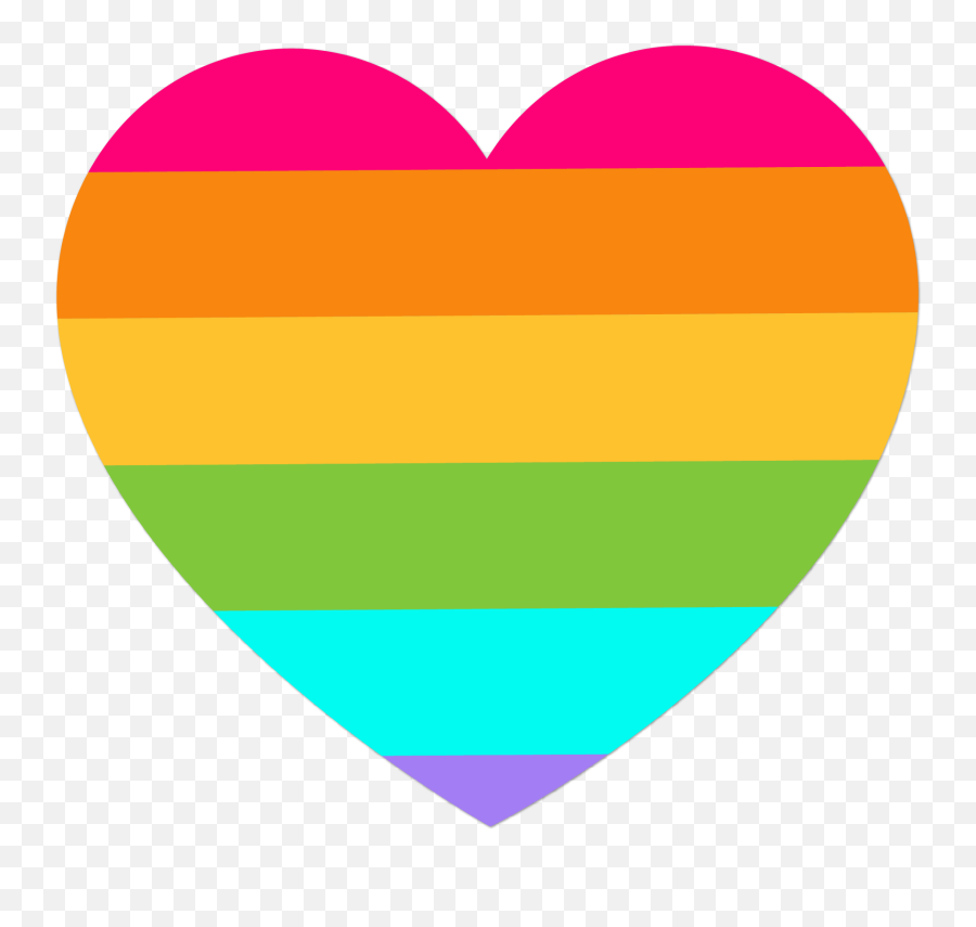 Rainbow Heart Background Png Free Rainbow Heart Background - Rainbow Heart No Background Emoji