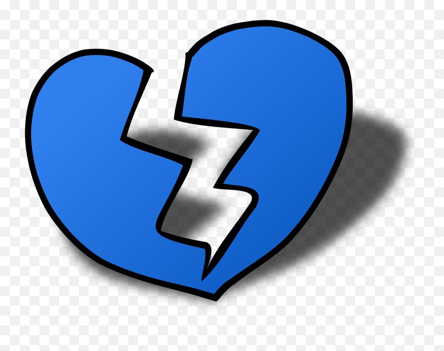 Heart Heartbreak Love Break Broken - Broken Blue Heart Emoji