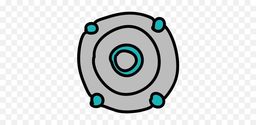Round Digital Speaker Icon - Circle Emoji