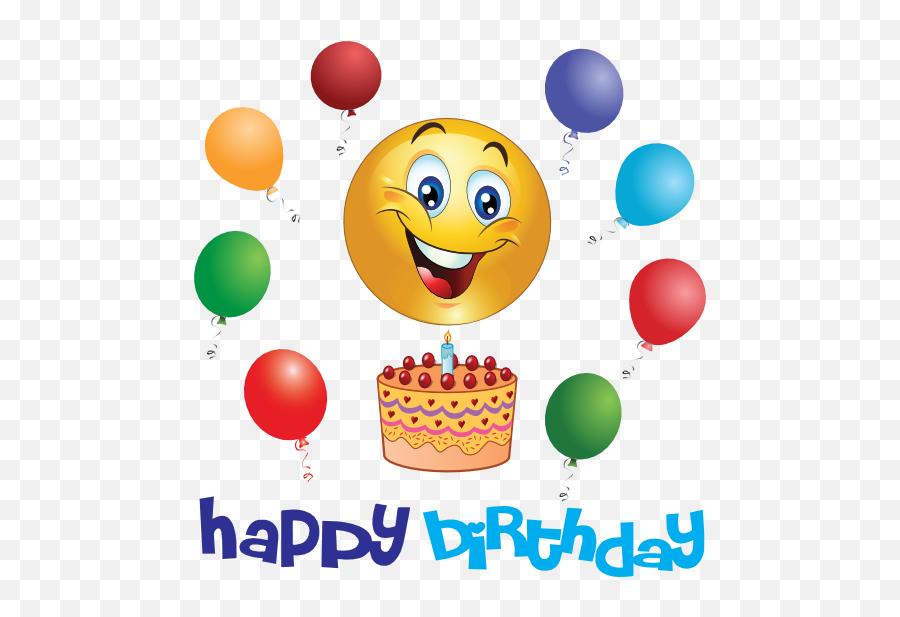 Birthday Party Background Clipart - Smiley Happy Birthday Emoji