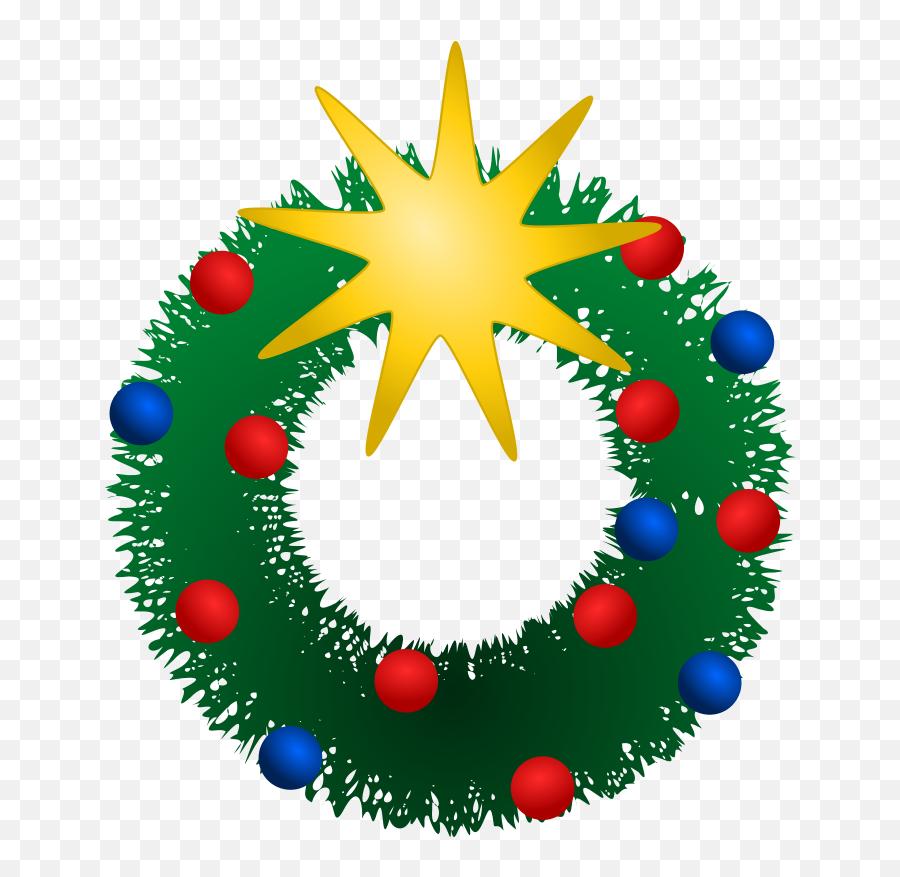 Free Christmas Wreath Clipart Public Domain Clip Art - Christmas Holiday Clip Art Emoji,Free Christmas Emoji