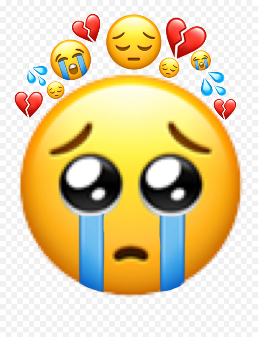 Largest Collection Of Free - Toedit Lacrime Stickers On Picsart Sad Broken Heart Emoji,Lewd Emoticon