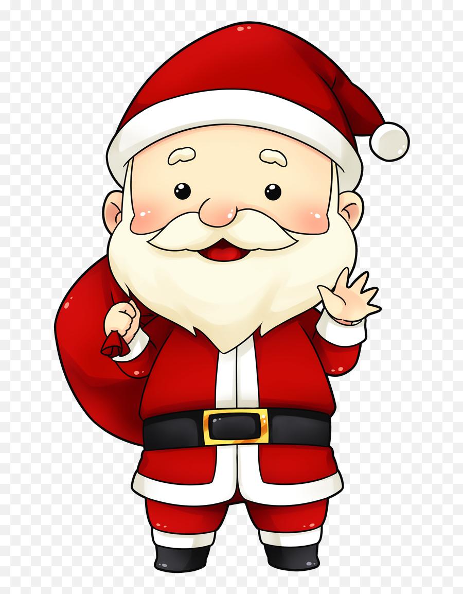 Sad Santa Clipart - Cute Santa Clipart Emoji,Santa Emoticon