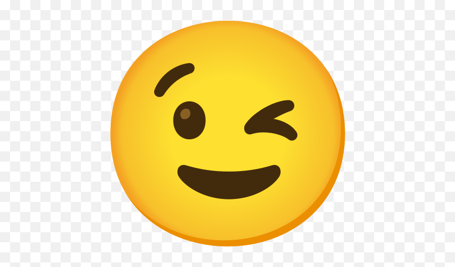 Winking Face Emoji - Happy Emoji Face,Emojis Para Face