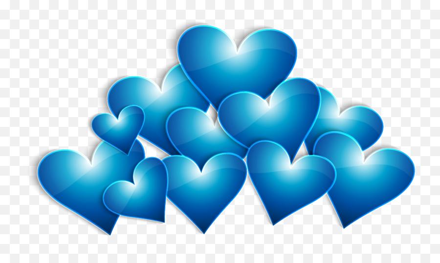 Heart Valentines Day - Blue Heart Png Transparent Emoji