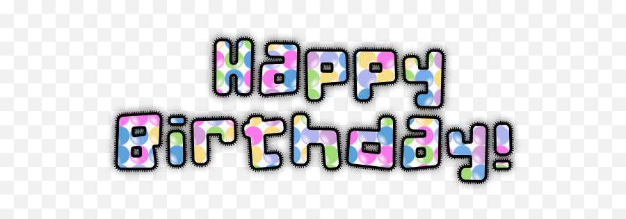 Happy Birthday Typography - Clip Art Emoji