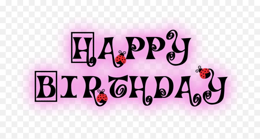 Happy Birthday Ladybug Polka Dots Happy Birthday Emoji