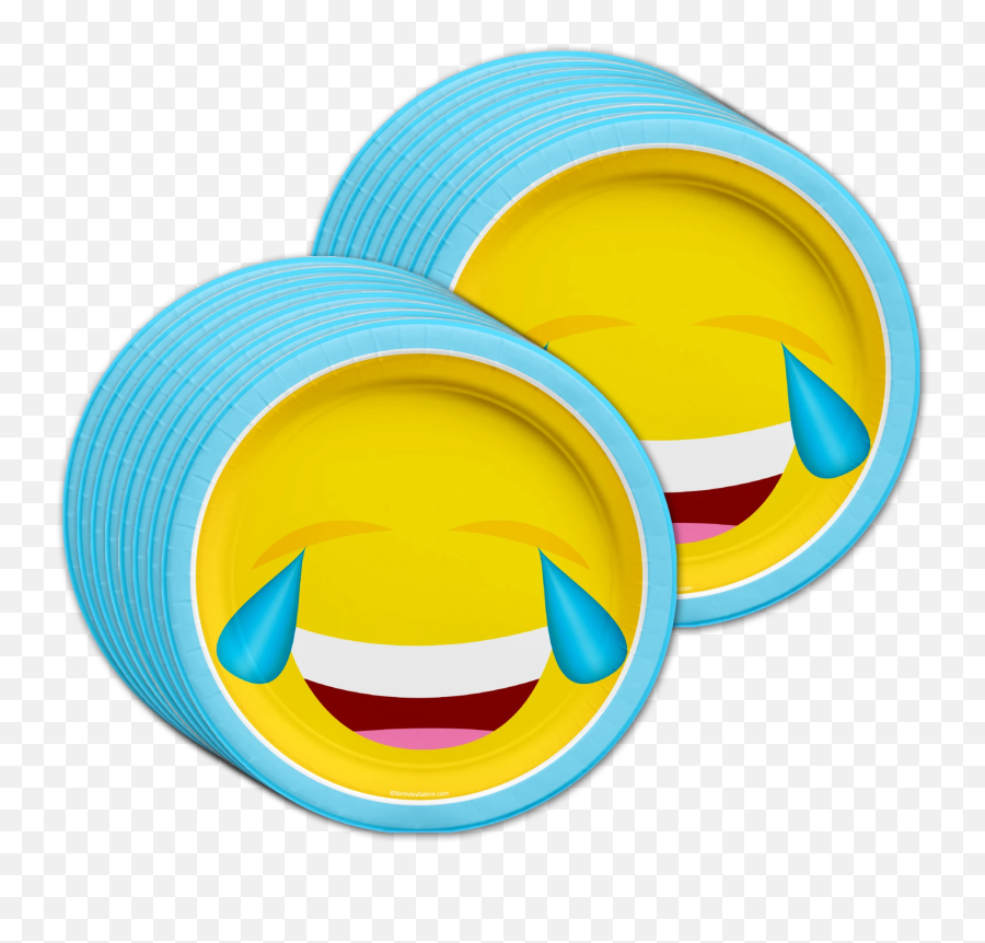 Emoji Birthday Party Tableware Kit For 16 Guests - Circle