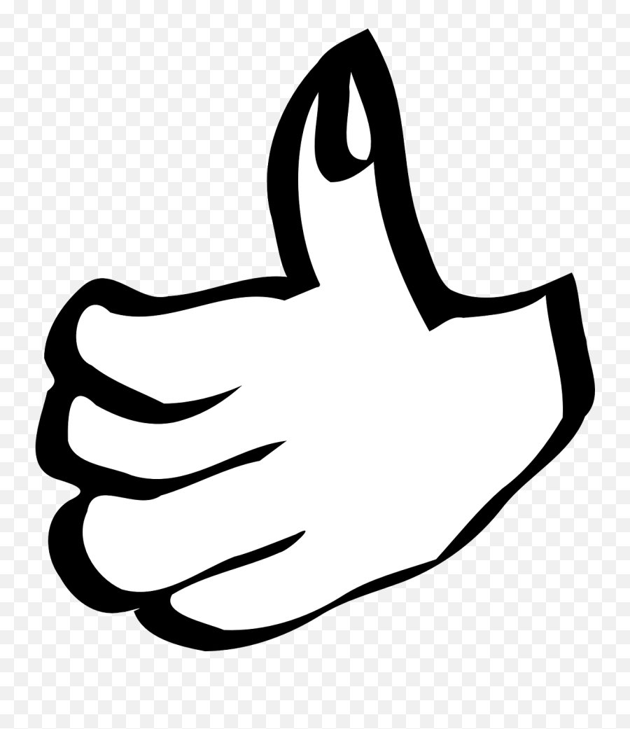 Thumbs Up Hand Success Sign Gesture - Thumbs Up Clip Art Emoji