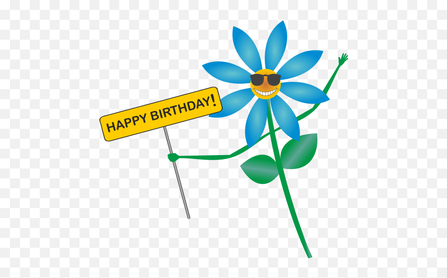 Happy - Flower Clipart Happy Birthday Emoji