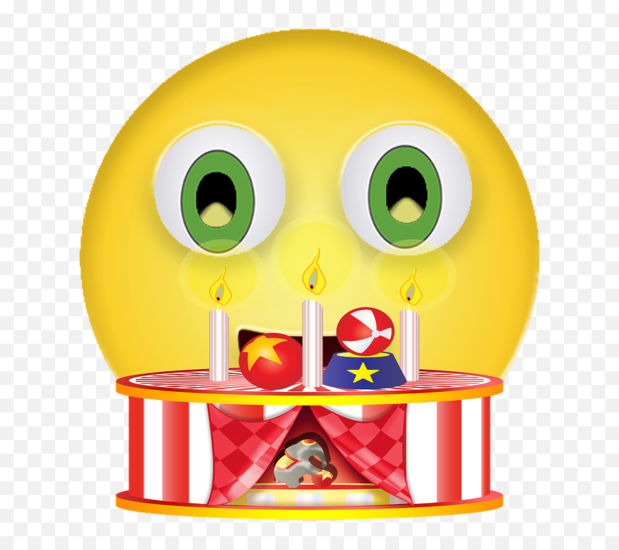 Graphic Birthday Smiley - Emoticon Emoji