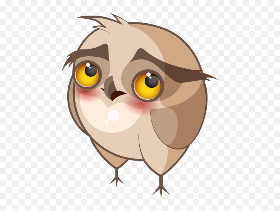Chubby Owls Stickers - Illustration Emoji,Owl Emoji Iphone