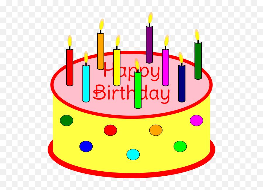 Flickering Candle Birthday Cake - Birthday Cake Candles Clip Art Emoji