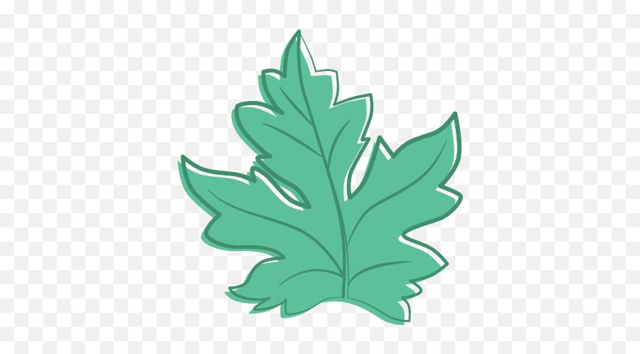 Weed Leaf Clipart - Draw Water Melon Leaf Emoji
