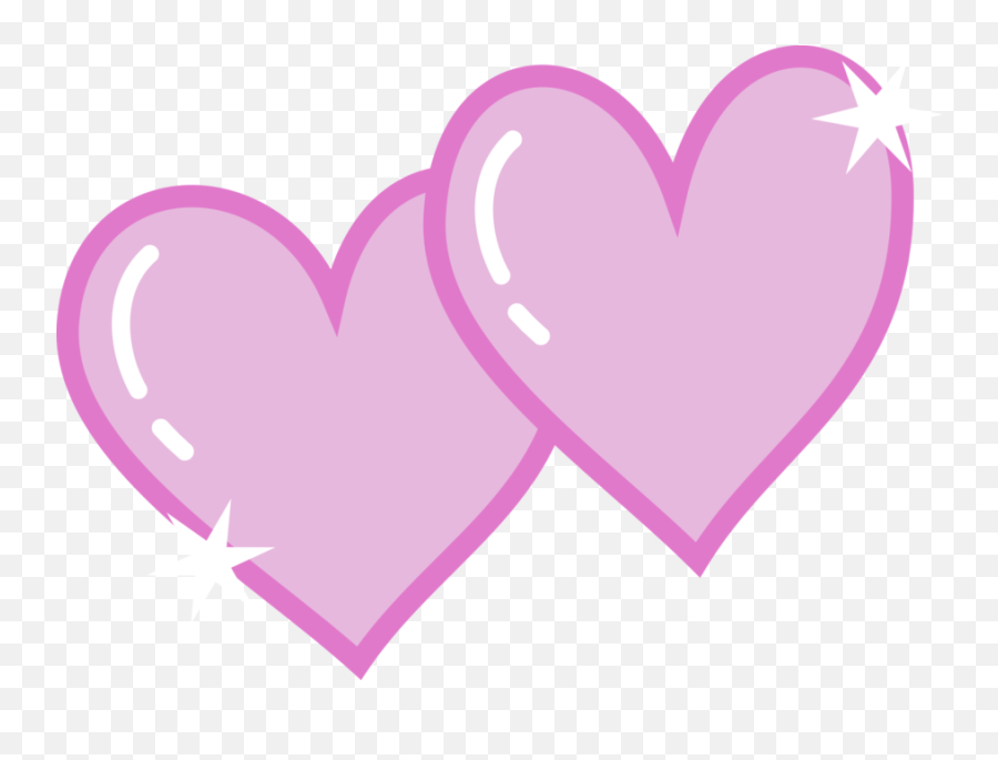 Free Double Heart Png Download Free - My Little Pony Heart Png Emoji
