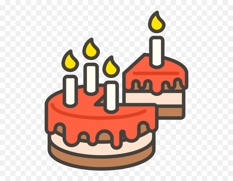 Transparent Birthday Cake Transparent Png - Birthday Cake Emoji Png