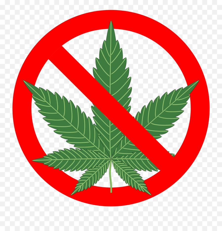 Marijuana Clipart - No Cannabis Png Emoji