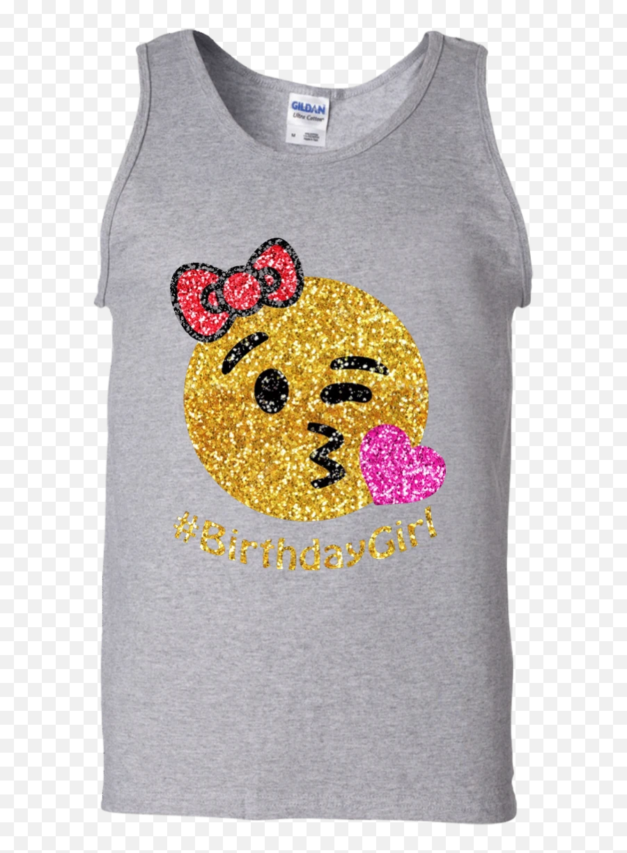 Birthday Emoji Shirt For Girls Cotton Tank Top