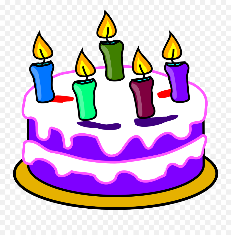 Birthday Cake Cake Candles Happy Birthday Free Vector - Birthday Cake Clipart Transparent Background Emoji