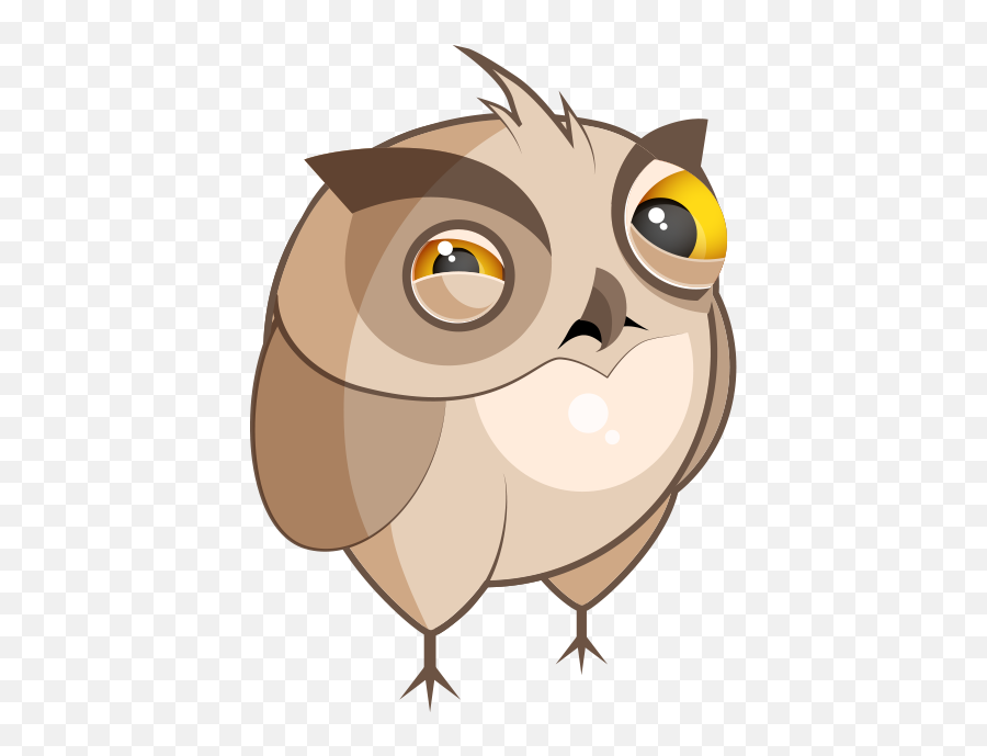 Chubby Owls Stickers by Sumair Jawaid - Funny Posture Emoji