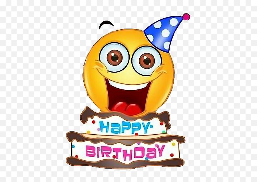 Emoji Birthday Happy Text Happybirthday Freetoedit - Happy Birthday Emoji Face