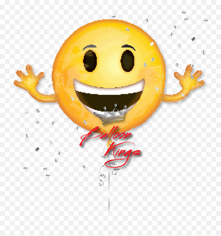 Download Hd Emoji Smiley Large - Emoji Face With Arms