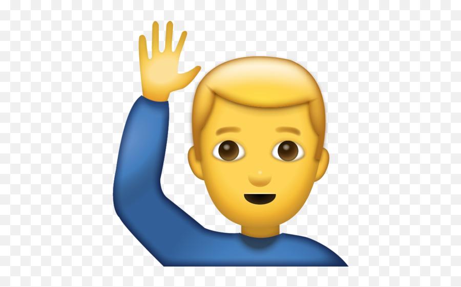 Man Saying Hi Emoji Download Iphone - Man Saying Hi Emoji