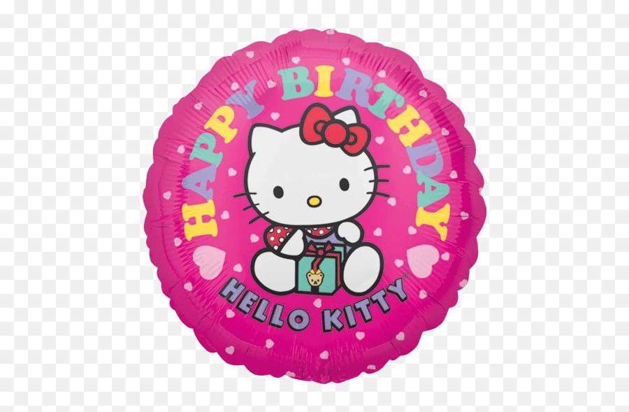 Hello Kitty Birthday Balloon - Hello Kitty Birthday Toppers Emoji