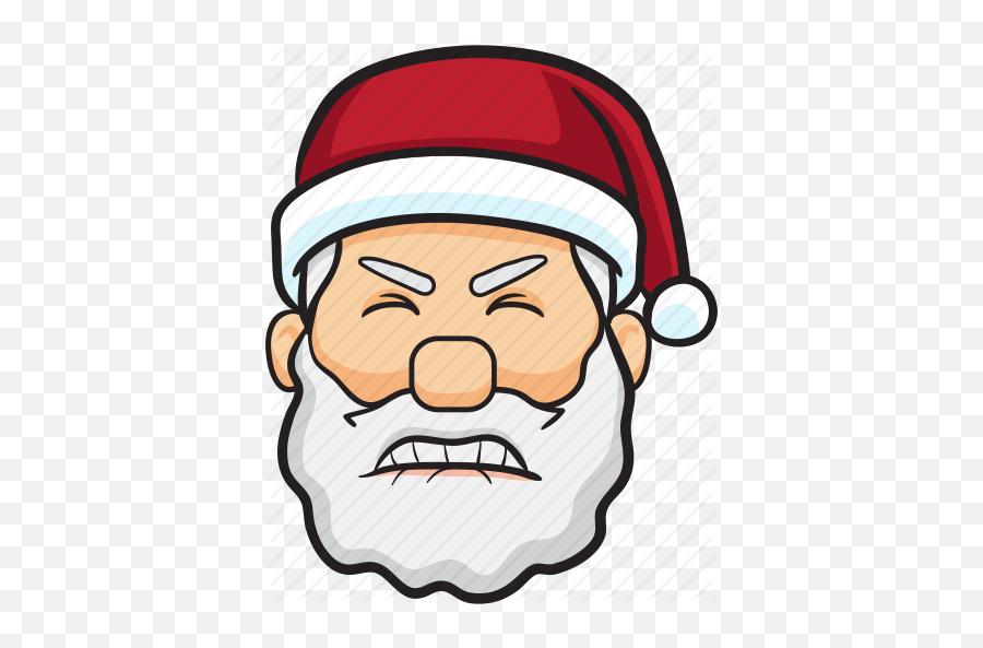 Santa Claus Christmas Emojis - Cool Santa Claus Cartoon,Black Santa Emoji