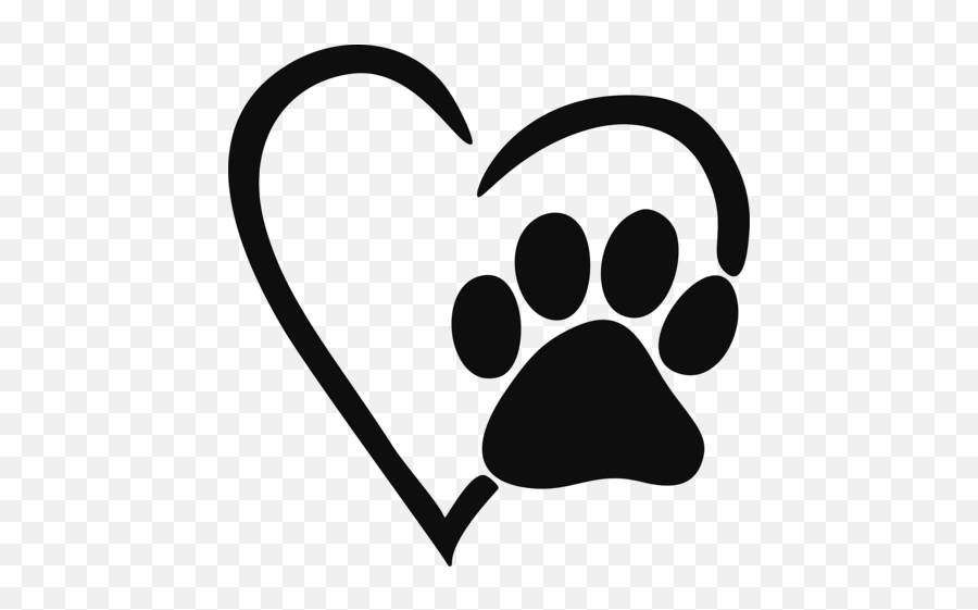 Heart Paw Print Decal - Paw Print Svg Free Emoji