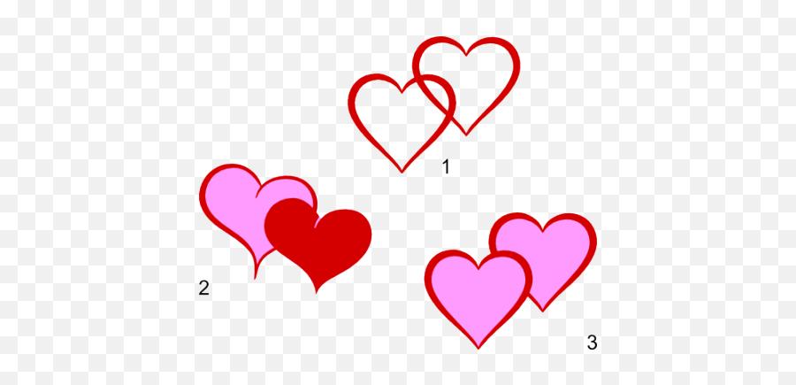 Double Heart Svg Files - Double Heart Clip Art Emoji