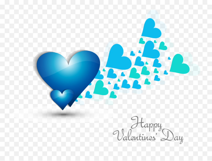 Blue heart - shaped elements png download  1021727  Free  Full Hd Happy Valentines Day 2020 Emoji