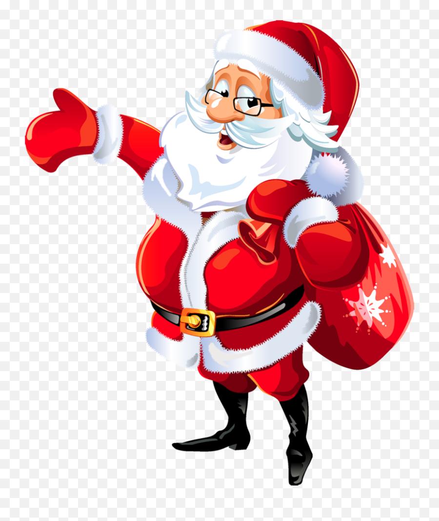 Santa Clip Art 2 - Merry Christmas Santa Png Emoji,Black Santa Emoji
