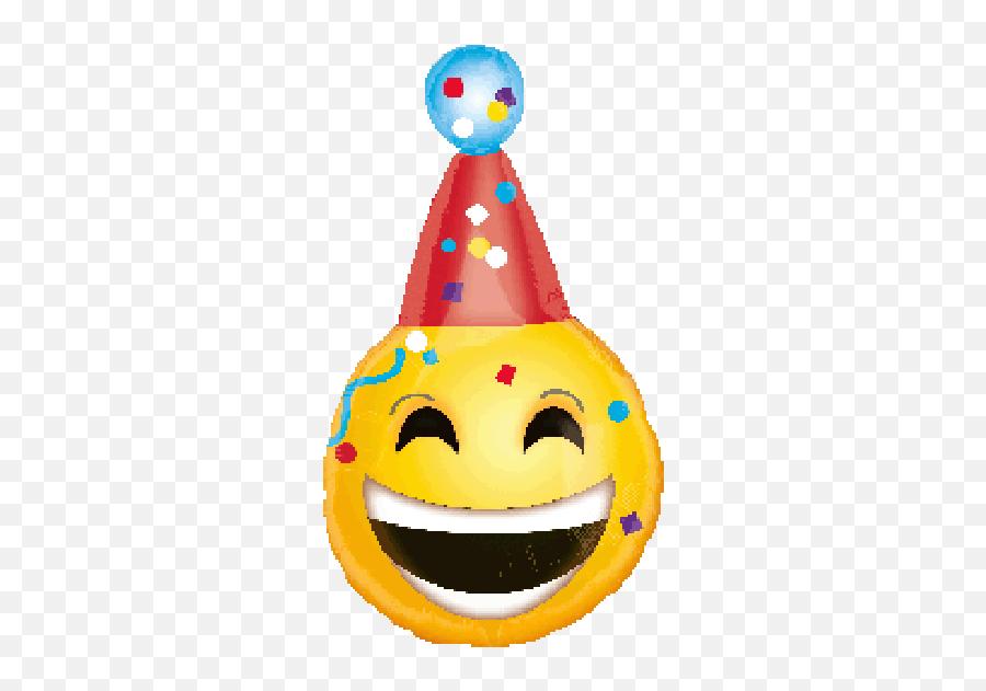 Anagram Foil Jr Shape 18 Happy Birthday Emoji - Emoji Birthday