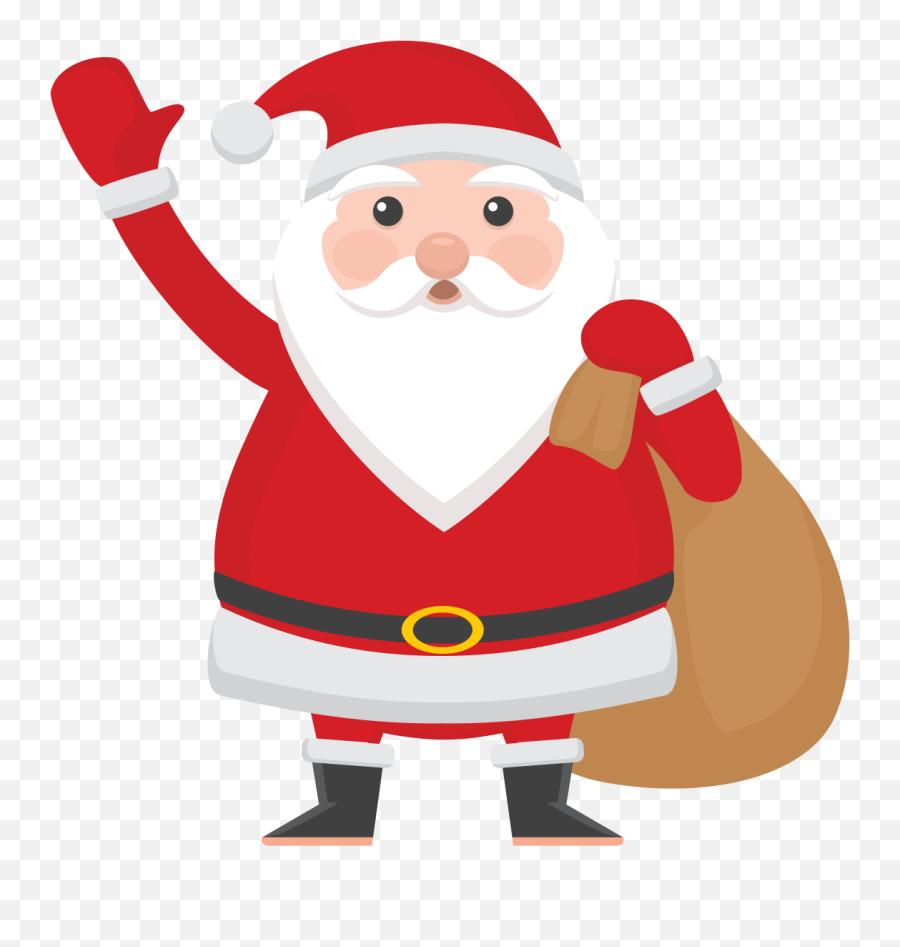 Santa Emoji Transparent Png Clipart - Santa Claus Free Png,Santa Emoji Iphone