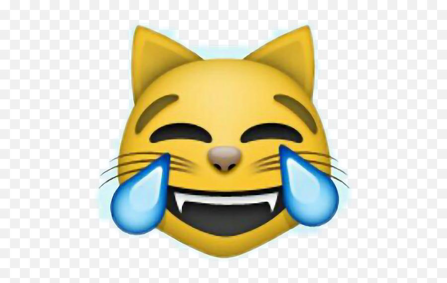 Download Emoji Cat Funny Happy Laugh Kjapa Riverdale Lol - Cat Face With Tears Of Joy Emoji
