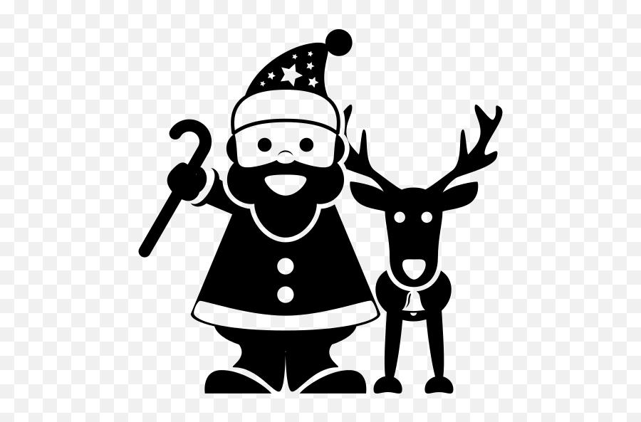 Santa Icon At Getdrawings - Santa Claus Png Icon Emoji,Black Santa Emoji