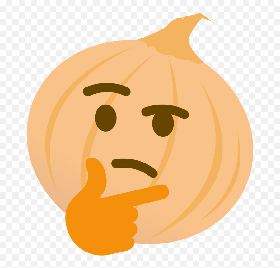 Onion Thinking Onion Thinking - Thinking Emoji Discord Png