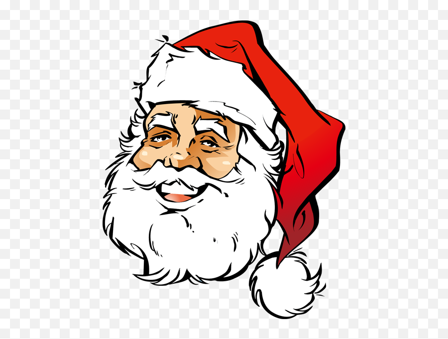 Free Santa Face Png Download Free Clip Art Free Clip Art - Santa Claus Face Png Emoji,Black Santa Emoji
