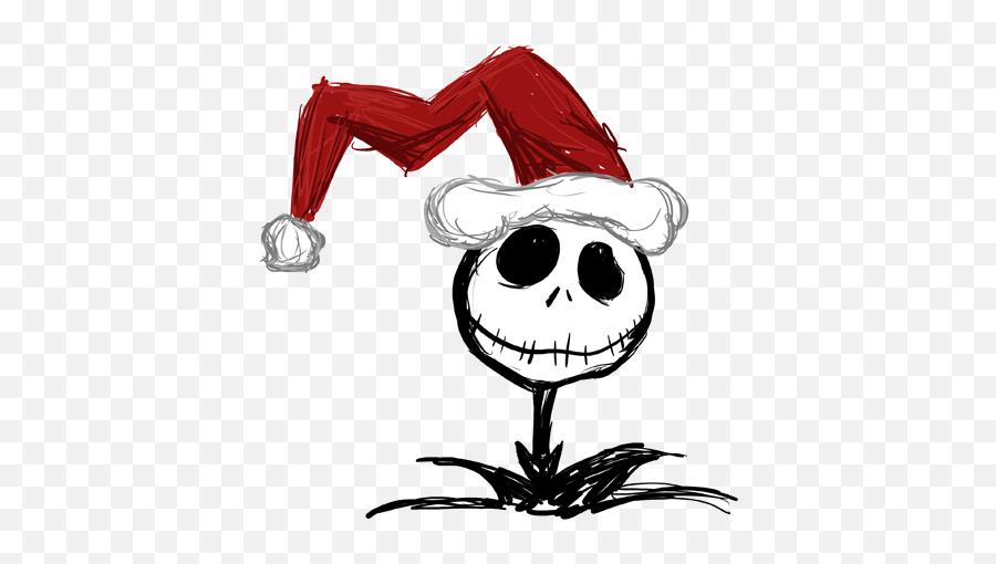 Nightmare Before Christmas Santa Hat - Nightmare Before Christmas Jack With Santa Hat Emoji,Black Santa Emoji
