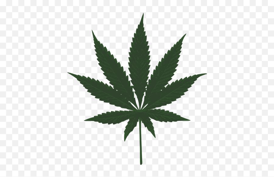 Cannabis Leaf Vector Image - Marijuana Leaf Emoji
