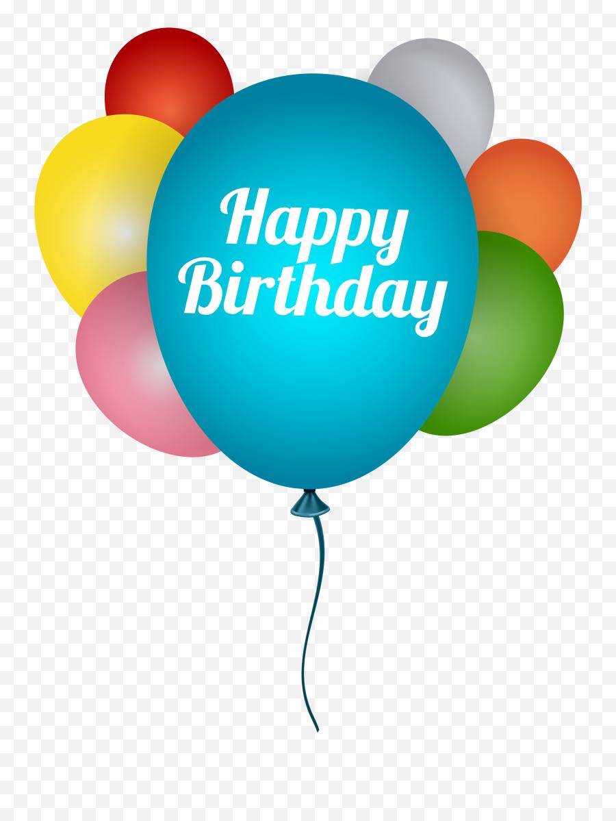Happy Birthday Balloon Clipart - Transparent Background Happy Birthday Balloon Emoji