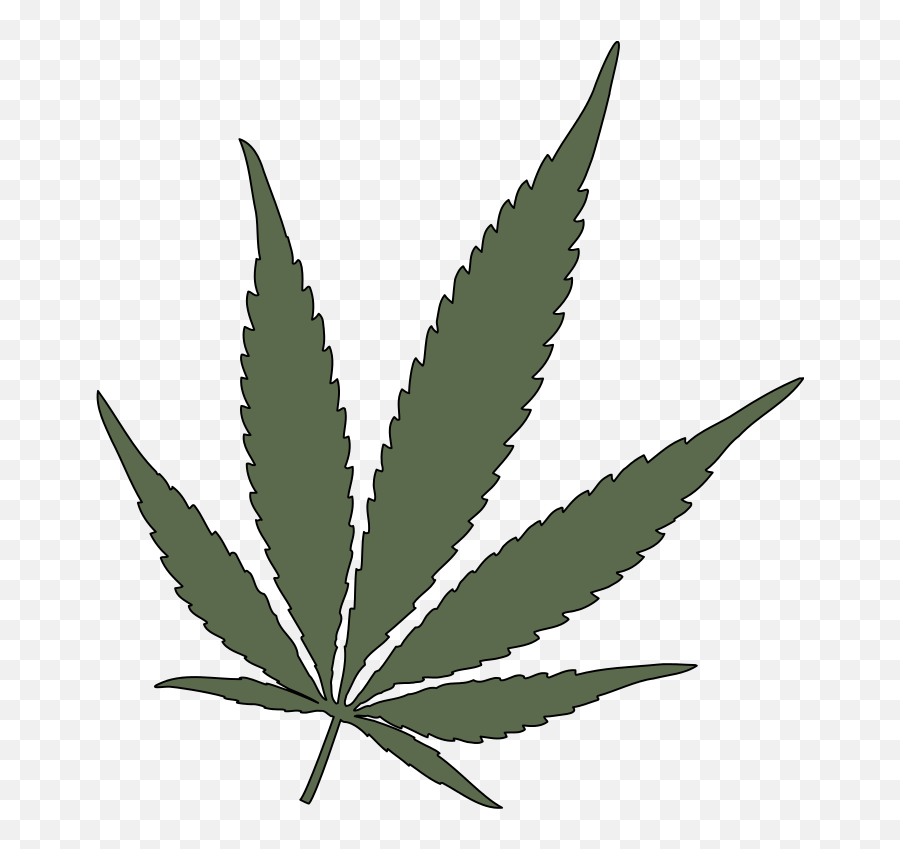 Feuille Chanvre - Cannabis Vector Png Emoji