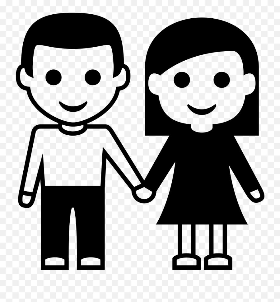 Emojione Bw 1f46b - Cartoon Emoji