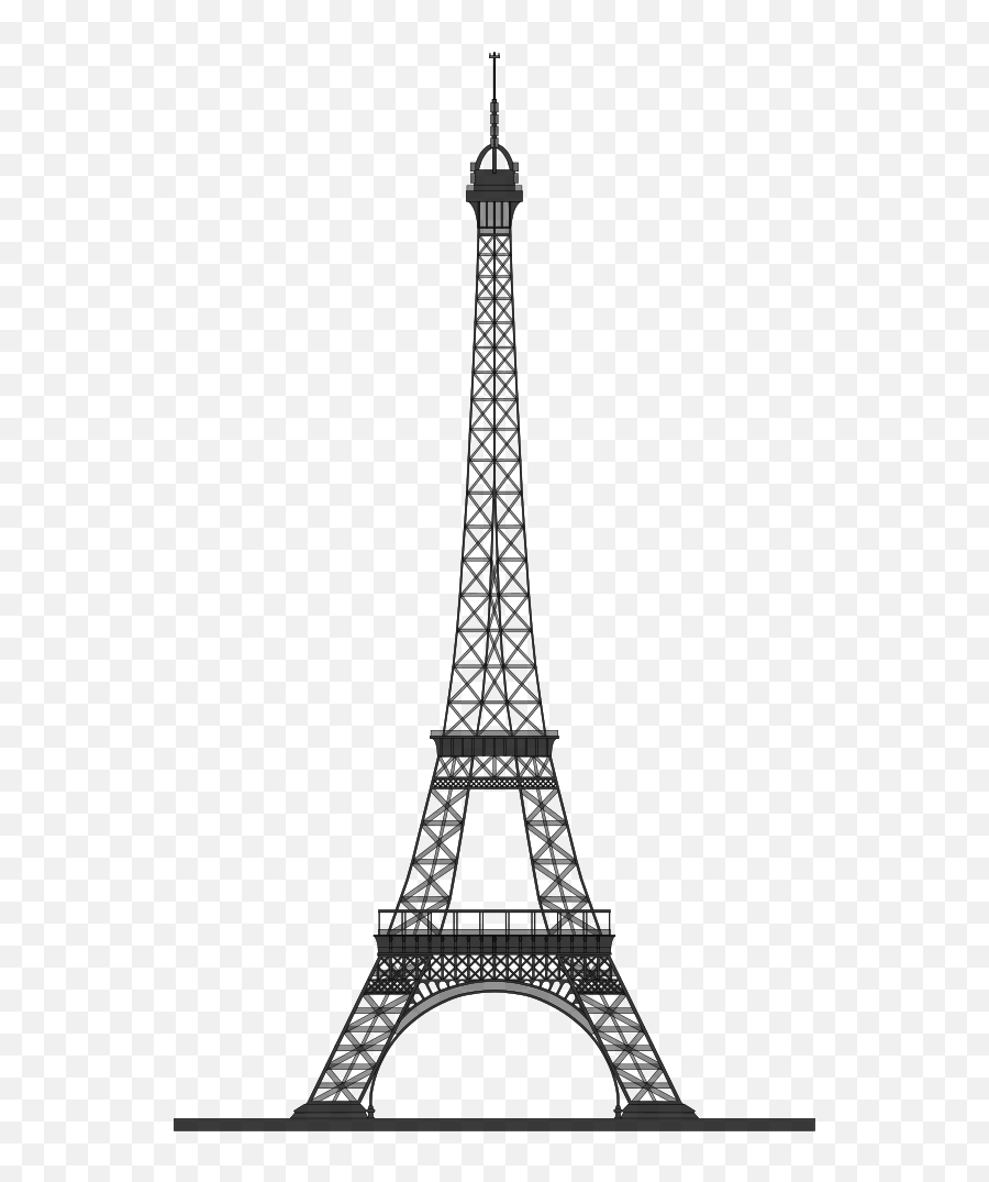 Eiffel Tower Clip Art Black And White - Eiffel Tower Vector Png Emoji,Is There An Eiffel Tower Emoji
