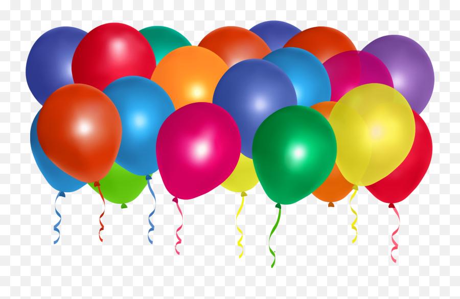 Happy Birthday - Transparent Background Bunch Balloons Emoji